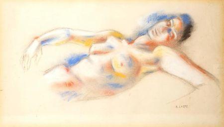 Litografía Lhote - Le Repos de la Femme