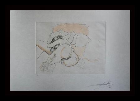 Grabado Dali - Le Repos du Guerrier