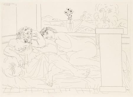 Aguafuerte Picasso - Le repos du sculpteur 4