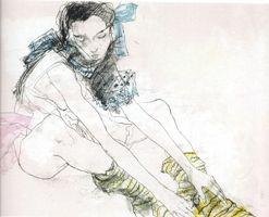 Litografía Jansem - Le ruban bleu