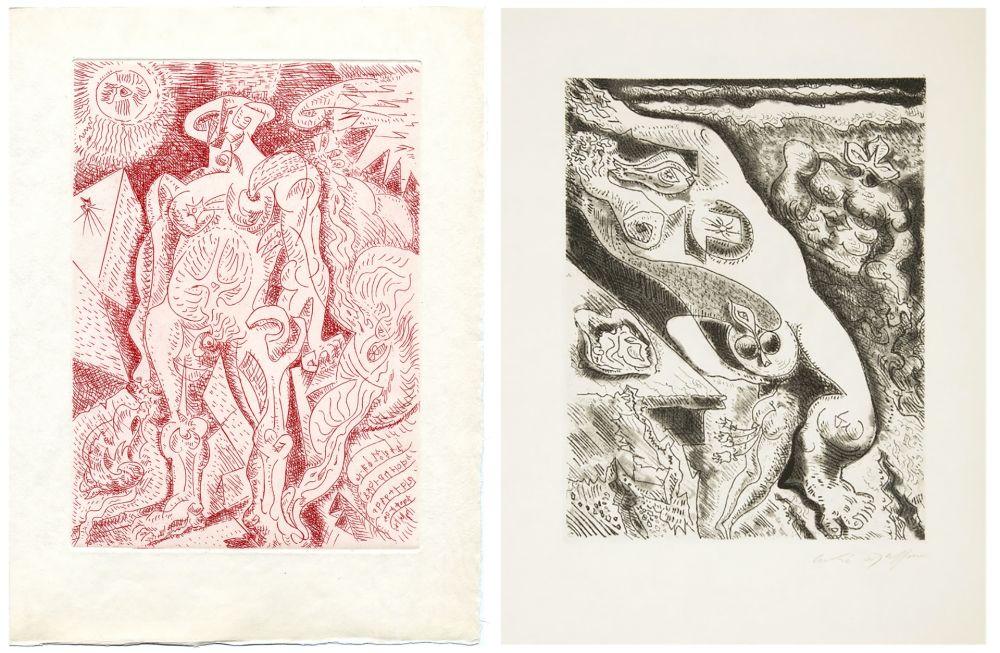 Libro Ilustrado Masson - LE SEPTIÈME CHANT. 4 gravures originales (1974)
