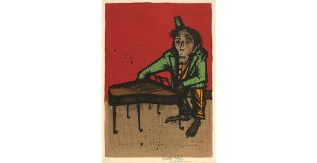 Litografía Buffet - Le singe musicien, 1968.