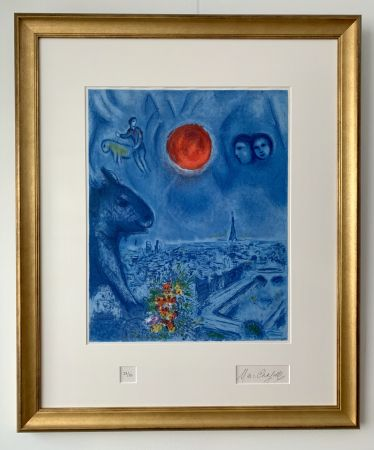 Litografía Chagall - Le Soleil de Paris