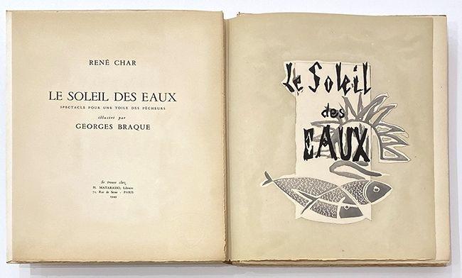 Libro Ilustrado Braque - Le soleil des eaux