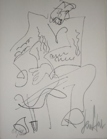Litografía Paul  - Le soliste