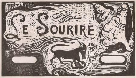 Grabado En Madera Gauguin - Le Sourire
