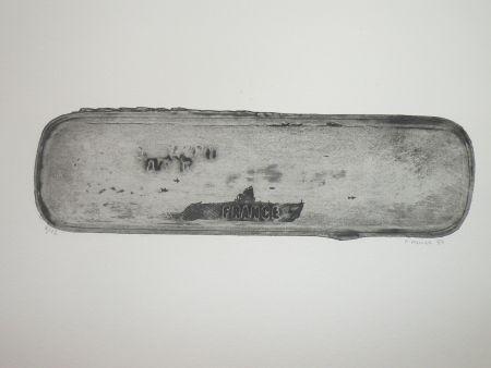 Aguafuerte Favier - Le sous marin France