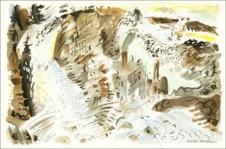 Litografía Masson - Le Torrent.