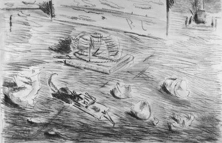 Litografía De Pisis - Le trappole