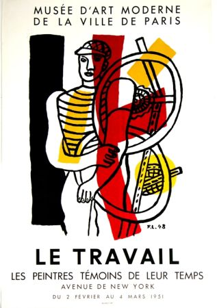 Litografía Leger - Le Travail  Musee D'Art Moderne
