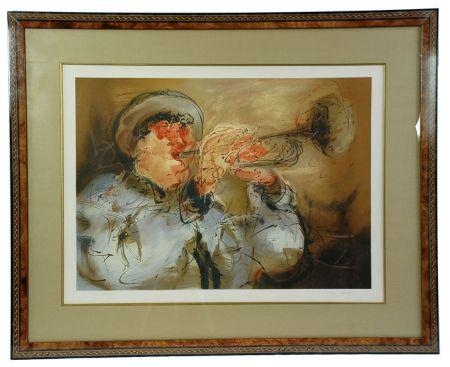Litografía Urdin  - Le Trompettiste - The Trumpeter