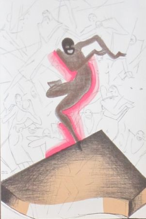 Litografía Colin - Le tumulte noir 38
