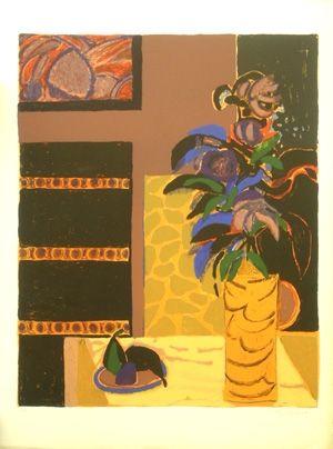 Litografía Godard - Le vase jaune