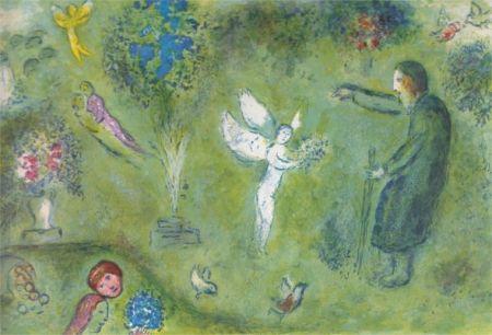 Litografía Chagall - Le Verger de Philetas