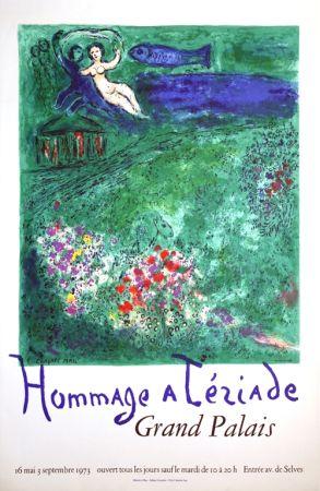 Litografía Chagall - Le Verger Hommage à Terriade