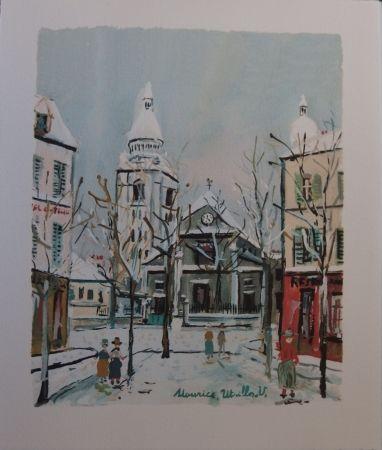 Pochoir Utrillo - Le Village inspire - Saint Pierre church in Montmartre