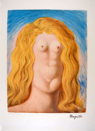 Litografía Magritte - Le Viol - The Rape