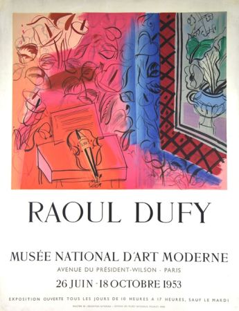 Litografía Dufy - Le Violon  Exposition  Mourlot