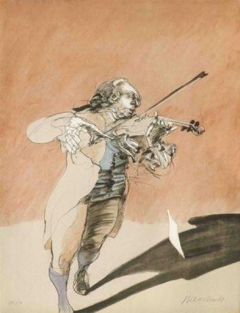 Litografía Weisbuch - Le violoniste
