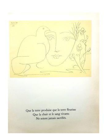 Litografía Picasso - Le Visage de la Paix