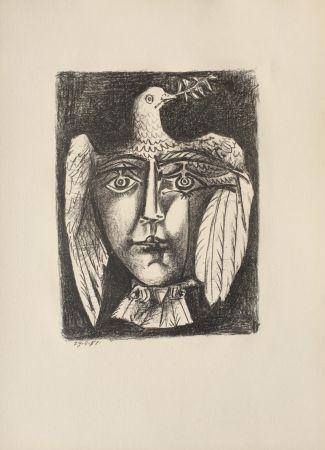 Litografía Picasso - Le Visage de la Paix (B. 687)