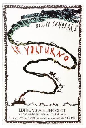 Cartel Alechinsky - Le Volturno, Blaise Cendrars, Pierre Alechinsky, 1990
