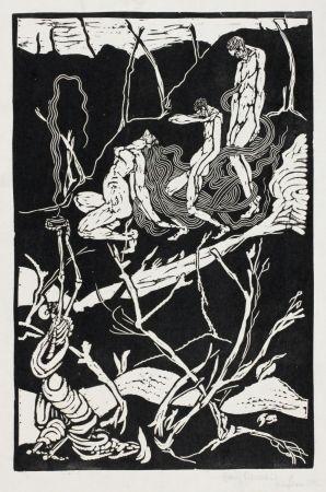 Linograbado Ehmsen - Leben und Tod (Life and Death)