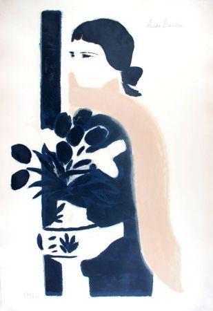 Litografía Brasilier - L'Echarpe Rose