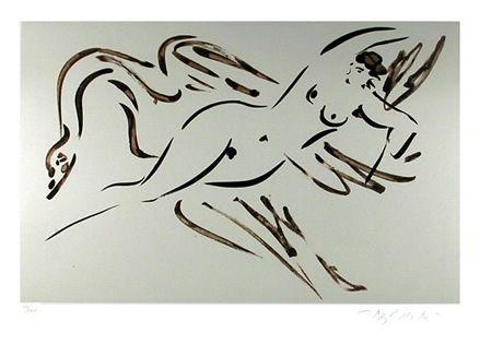 Grabado Nakian - Leda and the Swan - 2