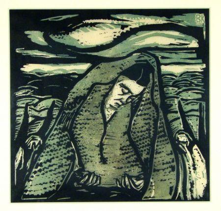 Grabado En Madera Koller-Pinell - Leid (Grief)