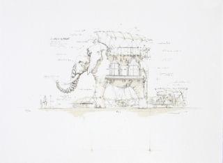 Litografía Delarozière - L'Elephant