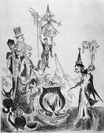 Aguafuerte Haz - L'elfo e la rosa