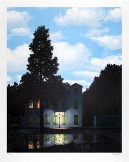 Litografía Magritte - L'empire des lumières 1954