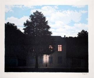Litografía Magritte - L'empire des lumières 1961