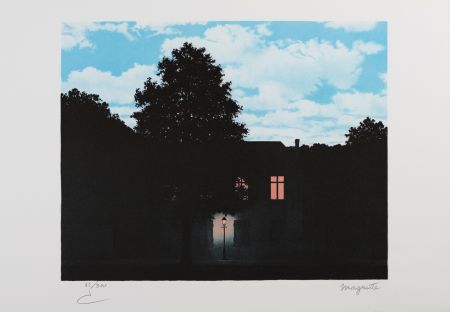 Litografía Magritte - L'Empire Des Lumières (The Empire Of Light)