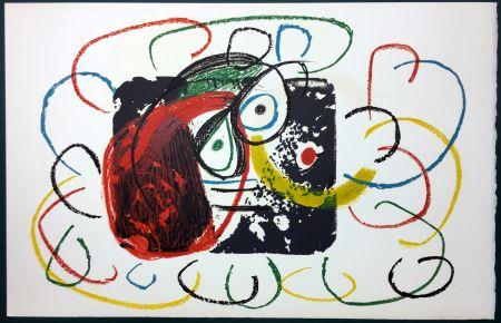 Litografía Miró - L'Enfance d' Ubu. La 21ème et dernière lithographie du cycle d'Ubu par Miro. 1975