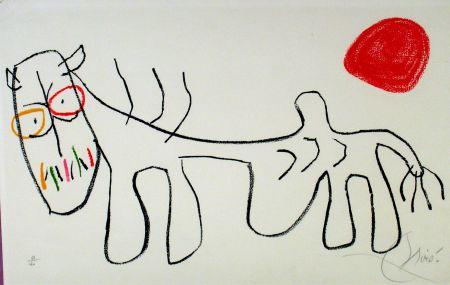 Litografía Miró - L'enfance du Ubu