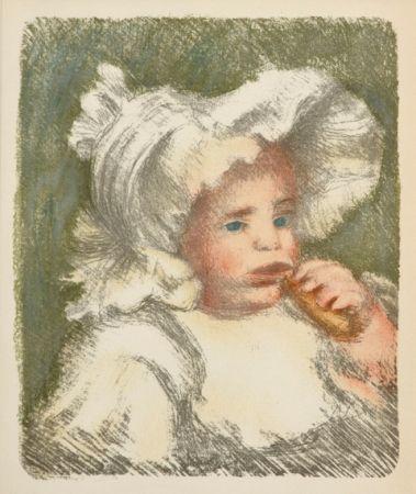 Litografía Renoir - L'Enfant au Biscuit