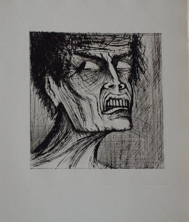 Litografía Buffet - L'enfer de Dante / Angélo