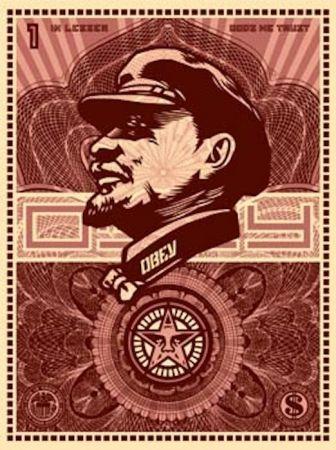 Serigrafía Fairey - Lenin Money