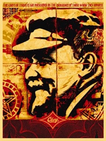 Serigrafía Fairey - Lenin Record