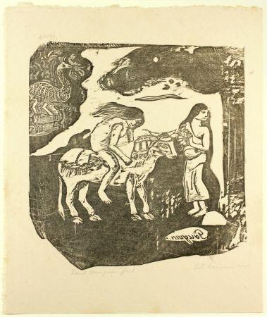 Grabado En Madera Gauguin - L'Enlèvement d'Europe