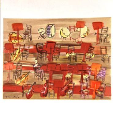 Litografía Dufy - L'Entracte