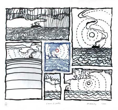 Grabado Alechinsky - L'envie De Partir