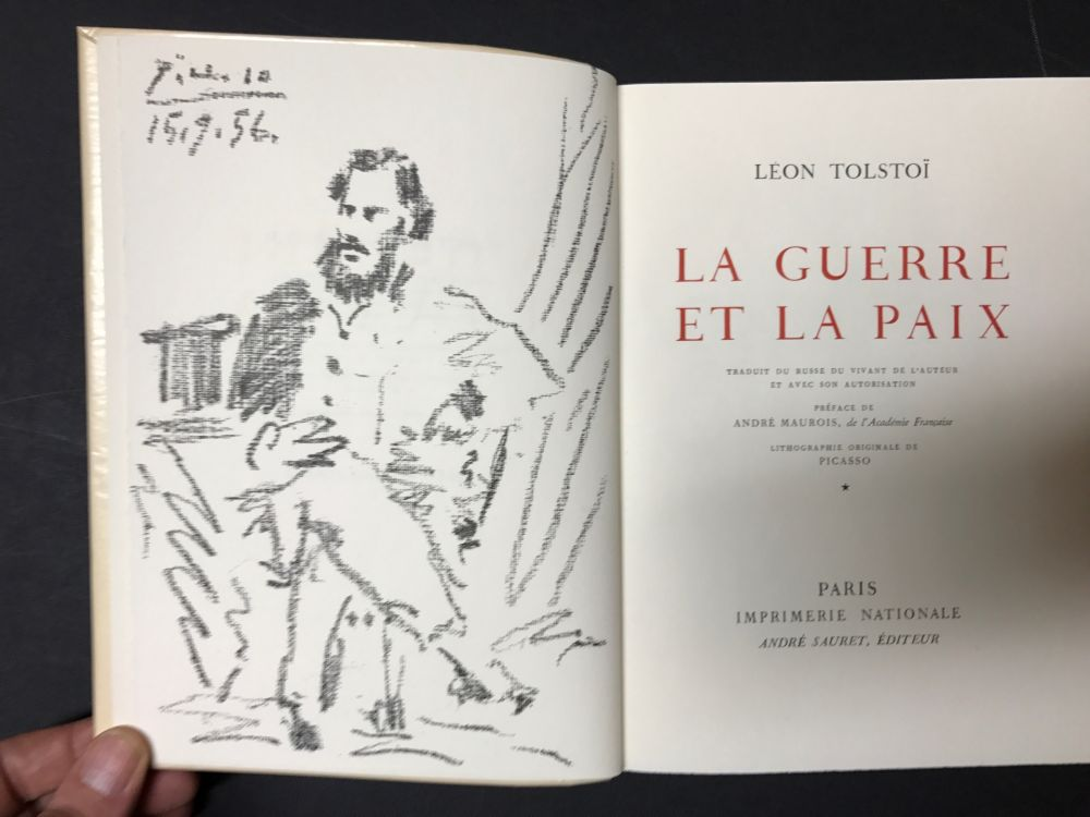 Litografía Picasso - Leon Tolstoi