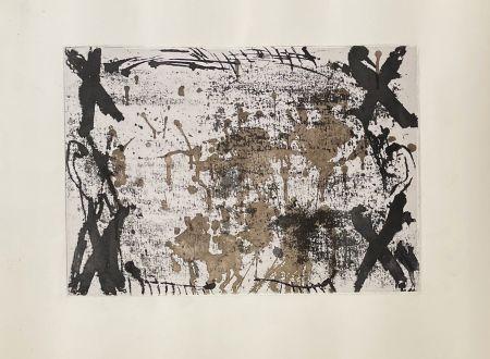 Grabado Tàpies - Les 4 croix
