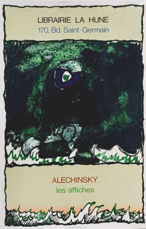 Litografía Alechinsky - Les Affiches  Librairie  à La Hune