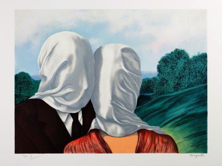 Litografía Magritte - Les Amants