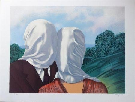 Litografía Magritte - Les amants (The Lovers)