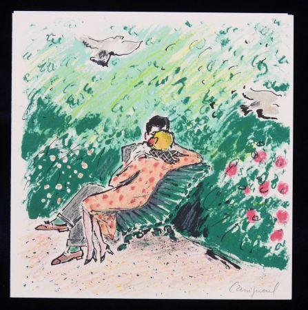 Litografía Cassigneul  - Les amoureux sur un banc